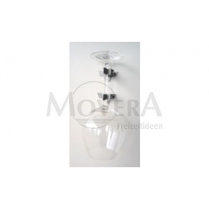 MEGA-KLIPP Βάση για ποτήρι κρασιού κόκκινο μονή