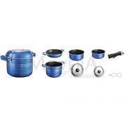 Κατσαρόλες set 7+1 Skipper από αλουμίνιο μπλε