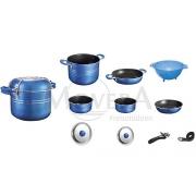 Κατσαρόλες set Skipper 9+1 μπλε