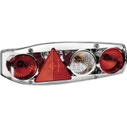 Φως Flash Stop πίσω Caraluna II Chromium με τρίγωνο αντανακλαστικό