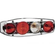 Φως Flash Stop πίσω Caraluna II Chromium με στρογγυλό αντανακλαστικό