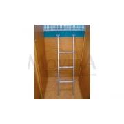 Σκάλα κρεμαστή για σοφίτα και πτυσσόμενα κρεββάτια