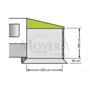 Πλαϊνος τοίχος για Τέντα χωρίς παράθυρο, 240 x 180 cm
