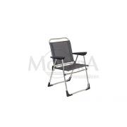 Καρέκλα αλουμινίου πτυσσόμενη ανθρακί